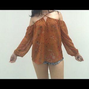 Zara Tops - Zara Trafaluc Collection Off Shoulder Blouse